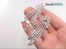 18k gold las chandelier designer diamond earrings 6 29ctw
