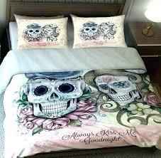 skull bedding sets full skull bedding sets queen skulls duvet cover set or comforter always kiss skull bedding sets full