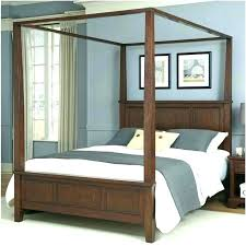 Full Size Canopy Bed Canopy Bed Frame Full Wooden Canopy Bed Medium ...