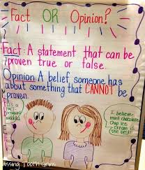 Fact Vs Opinion Anchor Chart Facts Lessons Tes Teach