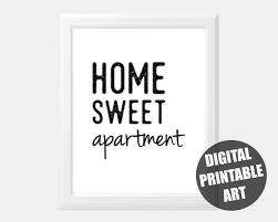 home sweet apartment printable home