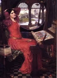 women writing and the original web textile vol no  uploads4 wikiart org images john william waterhouse i am half sick of shadows said the lady of shalott 1915 jpg