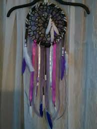 dream catcher wall hanging decoration ornament handmade feather craft gift purpl