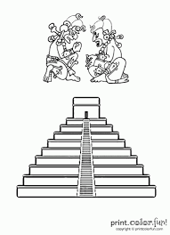 Small Picture Mayan pyramid coloring page Print Color Fun