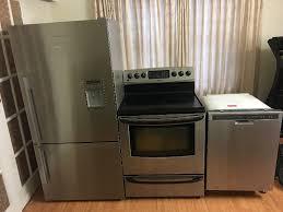 3 piece stainless steel kitchen appliance set fridge stove dish refrigerators mississauga l region kijiji