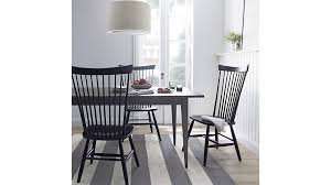 marlow ii black maple dining chair crate and barrel regarding windsor chairs inspirations 6