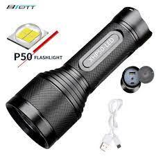 Led CREE XHP50 XHP70 Tích Hợp pin lithium 32650 USB sạc trực tiếp Công Suất  Ngân Hàng Ngoài Trời Mạnh Mẽ sáng LED Flashlights