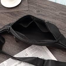 men s leather waist pack cool casual bag multifunctional rivets satchel bag