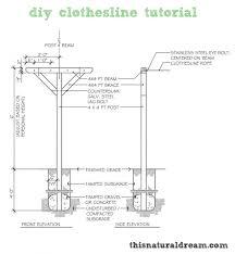 diy clothesline tutorial