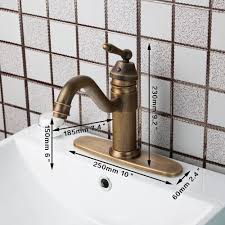 KEMAIDI Luxury <b>Antique Brass Bathroom Sink</b> Faucet Single ...