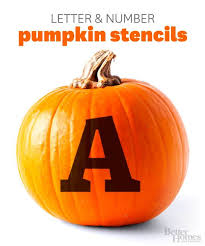 better homes and gardens letter number pumpkin stencils free