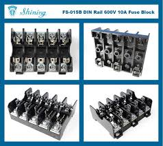 shining e e fs 015b for 6x30mm fuse din rail mounted 600v 10a 5 way