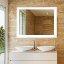 led wall mounted backlit vanity bathroom led