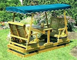 wood swings plans patio glider porch swing images about garden slider on inside