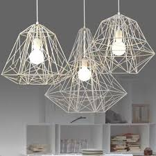 modern minimalist black white silver gold wrought iron cage pendant light chandelier living room lamp l400mm h400mm green pendant light red pendant lights
