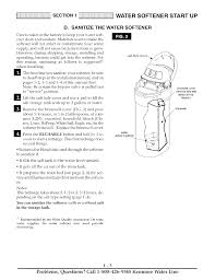 How To Start A Water Softener Water Softener Start Up Kenmore Ultrasoft 280 User Manual Page