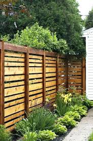 wood fence backyard. Wooden Screen Fence Backyard Styles Simple Stained Horizontal Will Match Any Decor Wood