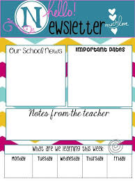 Free Teacher Newsletter Templates School Principal Newsletter Templates Free Egolfjobs Com