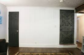 white interior doors with stained wood trim. Perfect Doors Interior Door In Iron Ore With A Real Wood Dutch Barn Colorwashed And  Stained Intended White Interior Doors With Stained Wood Trim E