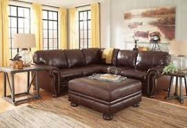 Ashley Furniture Banner Leather Sectional Tan Leather Sectional89