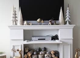 ana white faux fireplace mantle with storage