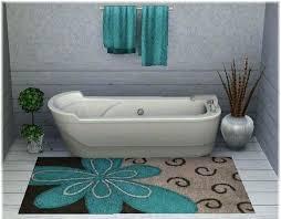 5 piece bathroom rug sets brown and blue bathroom rugs 5 pc bathroom rug sets