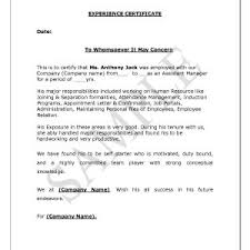 Certificate Of Employment Example Letter Fresh Sample Of ...