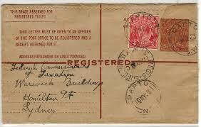 dapto post office. AUSTRALIA - 1922 5d Brown RPSE Uprated To Sydney At DAPTO/NSW. H\u0026G 16 Dapto Post Office