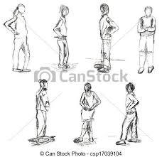 Disegni Persone Disegno Movimento Bambini Disegni Standing