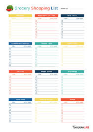 Grocery Checklist 40 Printable Grocery List Templates Shopping List