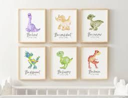 dinosaur wall art dino nursery print