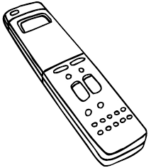 remote control drawing. remote control vinyl sticker. customize on line. radio television video 078-0139 drawing