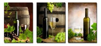 3 piece grapes and wall art large 3 panels bottles and wine  on large wine bottle wall art with wine home decor wine kitchen decor ideas decor snob