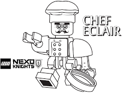 Small Picture Chef Coloring Page Printable Sheet LEGO Nexo Knights