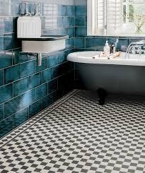 black and white tile floor. Victorian Black/White Chequer Tile Black And White Floor -