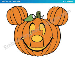 Mickey Mouse Pumpkin - Halloween - Holiday Disney Character Designs as SVG  Vector for Print in 5 formats - DSNYH000558 • Embroidery Stock Designs | Mickey  mouse pumpkin, Minnie mouse pumpkin, Character design