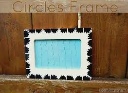 Circles and paint Wooden Frame (tutorial)