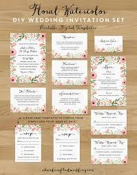 Wedding Invitation Set Templates Diy Save The Date Postcard Free Printable Wedding Wedding