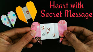 heart greetings card with a secret message for valentine s day diy tutorial by paper folds you