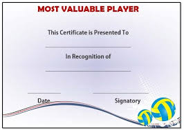 mvp award certificates volleyball mvp award template volleyball certificates free