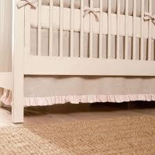 light pink linen 2 piece crib bedding set