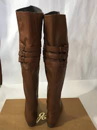 joie coachella navajo brown leather buckle otk thigh high boots 36 5 nib 525