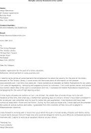 Academic Librarian Cover Letter Cover Letter For Library Resume