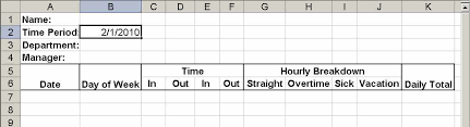 timesheet hours build a simple timesheet in excel techrepublic
