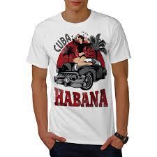 Auto Tshirt Design Details About Wellcoda Habana Cuba Capital Mens T Shirt Auto Graphic Design Printed Tee