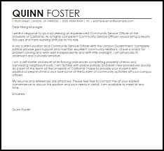 Cover Letter For Community Service Community Service Officer Cover Letter Sample Cover Letter