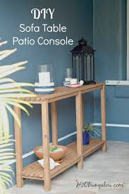 Diy sofa table Easy Diy Outdoor Sofa Table Tutorial Could Easily Be Console Or Sofa Table Indoors Too H2obungalow Diy Outdoor Sofa Table Tutorial H2obungalow
