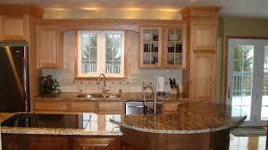 tan and black granite kitchen countertop