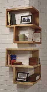 creative shelves design. Unique Wooden Shelves Mounted To Wall And Creative Design