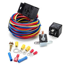 generic electric cooling fan wire harness kit relay circuit breaker generic electric cooling fan wire harness kit relay circuit breaker wiring harness sbc